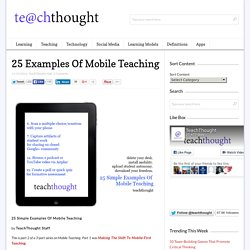 25 Simple Examples Of Mobile Teaching