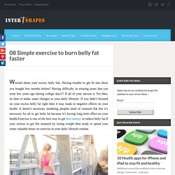 08 Simple Exercise To Burn Belly Fat Faster