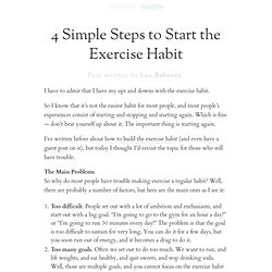 » 4 Simple Steps to Start the Exercise Habit