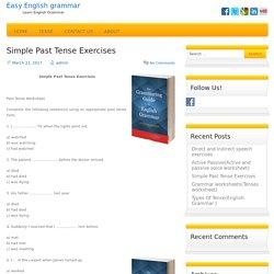 Simple Past Tense Exercises(Past Tense Worksheet)......