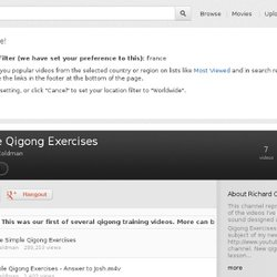 Playlist - Simple Qigong Exercises
