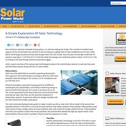 A Simple Explanation Of Solar Technology