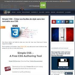 Simple CSS - Créez vos feuilles de style sans rien connaitre aux CSS