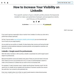 1 Simple Way To Get Found More Easily on LinkedIn