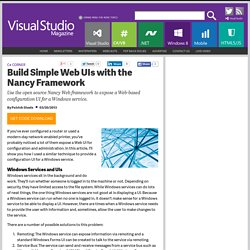 Build Simple Web UIs with the Nancy Framework