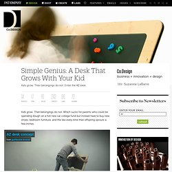 Simple Genius: A Desk That Grows With Your Kid | Co. Design
