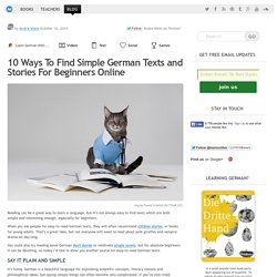 10 Ways To Find Simple German Texts and Stories
