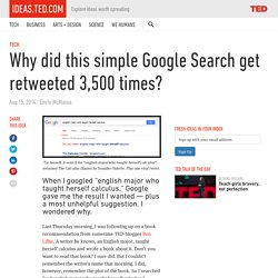 Why did this simple Google Search get retweeted 3,500 times?