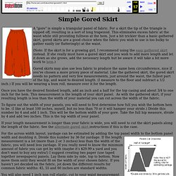 Simple Gored Skirt