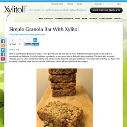 Simple Granola Bar with Xylitol