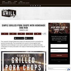 Simple Grilled Pork Chops with Homemade BBQ Rub