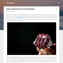 SIMPLE GUIDANCE FOR YOU PINK DIAMONDS