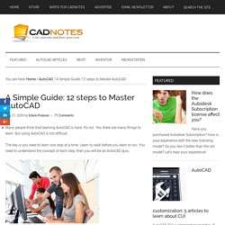 A Simple Guide: 12 steps to Master AutoCAD