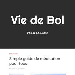 Simple guide de méditation pour tous