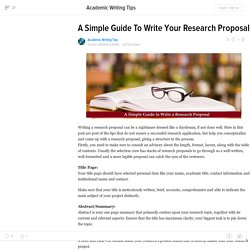 A Simple Guide To Write Your Research Proposal