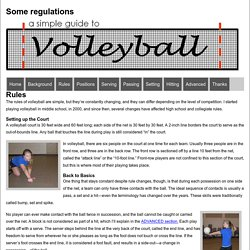 A Simple Guide To Volleyball - Rules