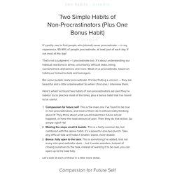 Two Simple Habits of Non-Procrastinators (Plus One Bonus Habit)