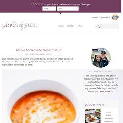 Simple Homemade Tomato Soup Recipe