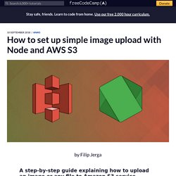 How to set up simple image upload with Node and AWS S3