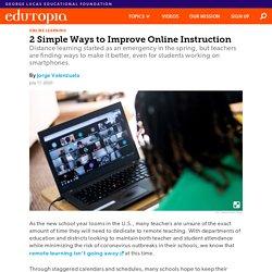 2 Simple Ways to Improve Online K-12 Instruction