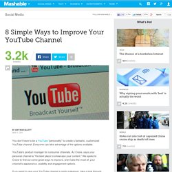 8 Simple Ways to Improve Your YouTube Channel