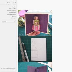 DIY Simple 3D Gift Card - Inspiring picture on Joyzz.com