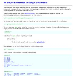 An simple R interface to Google Documents