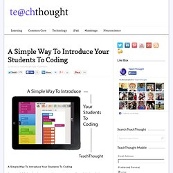 A Simple Way To Introduce Your Students To Coding
