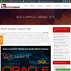 Build Simple Laravel Site with Laravel 5 Developers