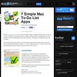 7 Simple Mac To-Do List Apps