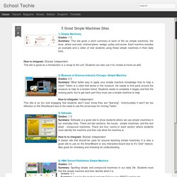 School Techie: 5 Great Simple Machines Sites