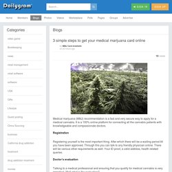 3 simple steps to get your medical marijuana card online