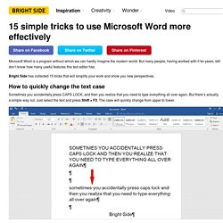 15 simple tricks to use Microsoft Word more effectively