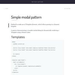 Simple modal pattern