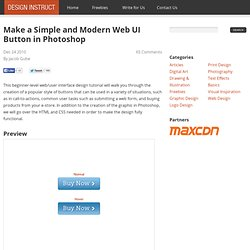 Make a Simple and Modern Web UI Button in Photoshop