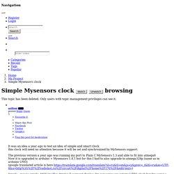 Simple Mysensors clock