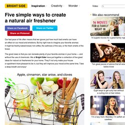 Five simple ways tocreate anatural air freshener