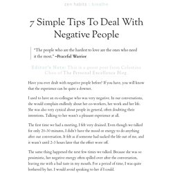 » 7 Simple Tips To Deal With Negative People