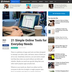 21 Simple Online Tools for Everyday Needs
