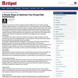 4 Simple Steps to Optimize Your Drupal Site Performance