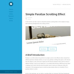 Simple Parallax Scrolling Effect