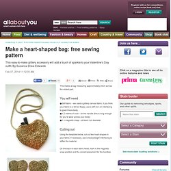 Simple Heart-Shaped Bling Bag: Free Sewing Pattern