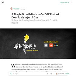 A Simple Growth Hack to Get 50K Podcast Downloads in Just 1 Day