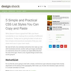 5 Simple and Practical CSS List Styles You Can Copy and Paste