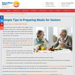 Simple Tips in Preparing Meals for Seniors