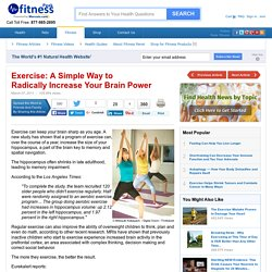 Simple Way to Radically Increase Your Brain Power