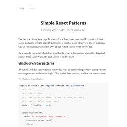 Simple React Patterns