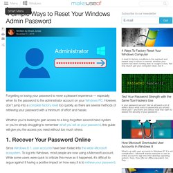 4 Simple Ways to Reset Your Windows Admin Password