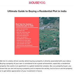 Simple Guide to Buying a Residential Plot in India - Houseyog