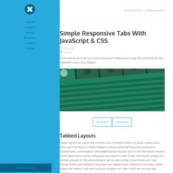 Simple Responsive Tabs With JavaScript & CSS